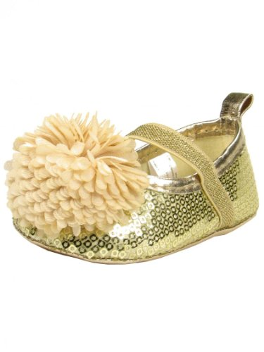 wholesale online outlet boutique clearance prices Stepping Stones Gold Sequins Baby Soft Sole Shoe | Baby Store ...