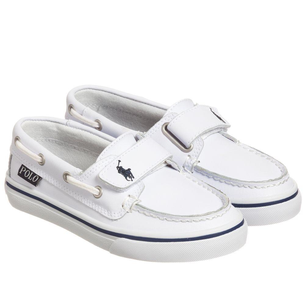 Polo Ralph Lauren Boys White Leather
